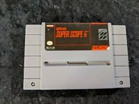 SUPER SCOPE 6 Loose Game Only (Nintendo SNES, 1992) Tested & WORKS!