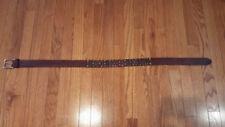 Diesel Leather Belt - brown, distressed Size 90