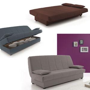 Hogar24.es - Sofas sofa cama clic clac desenfundable con arc?n de almacenaje