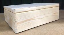 Pine wood box with lid 40x30x15cm DD169NH craft memory wedding storage