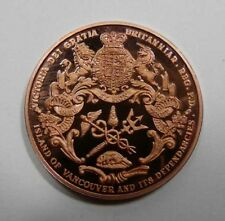 Victoria Numismatic Society 150th of Canada Large Copper Medal VERY S. Mintage