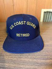 Vintage Us Coast Guard Retired Bancroft Baseball Cap Hat Snapback Nwot Nos 🇺🇸