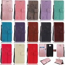 Cat Tree Wallet Leather Flip Case Cover For Huawei Y7 Prime Mate 10 Lite Y5 2017