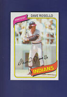 Dave Rosello 1980 TOPPS Baseball #122 (NM+) Cleveland Indians