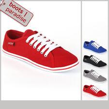 Sportliche Damen Sneakers 96907 Flach Schnürer Halbschuhe 36-42 New Look