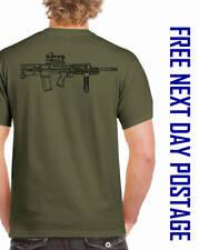 HK H&K SA80A2 RIFLE T-SHIRT tee british army hka2 small arms acog TRIPLE PRINT
