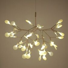 Modern Cherry Chandeliers Lights Tree Leaf LED Pendant Lamps Gold Black Fixtures