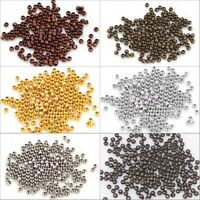 1000 x Gold/Silver Plated Round Ball Spacer Bead 3mm Jewelry Finding Charm Hot