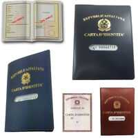Porta Carta D'Identità Custodia Plastica Documento Trasparente Fodero Carte 624