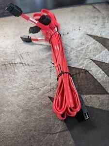 Mini-SAS SFF-8087 Male to 4x SATA Breakout Cable 40004-00 Molex 79576-3018 1m