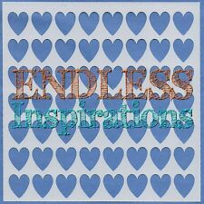 "6""x6"" Endless Inspirations Stencil, Small Hearts - Free US Shipping"