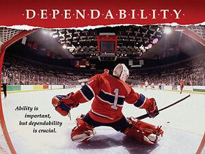 Hockey Goalie DEPENDABILITY Inspirational Motivational Poster Print