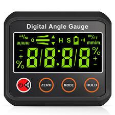 Digital Gauge Level Box Protractor Angle Finder Inclinometer Magnetic 490