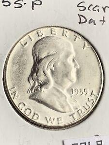 UNCIRCULATED 1955 Franklin Silver Half Dollar # 7969