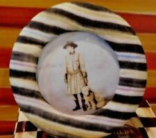 MACKENZIE CHILDS COURTLY STRIPE SILK OVER BOARD PHOTO FRAME