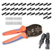 20x Paar MC4 Stecker 1-1 Solarstecker + Crimpzange 2,5/4/6mm² - Crimping Tool
