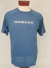 Oakley Mens Short Sleeve Graphic T-Shirt Tee Heather Blue M NWOT Graphic Crew