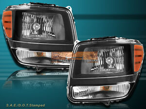 07-11 Dodge Nitro Sport Utility OE Replacement Headlights Black Housing