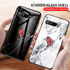For Asus ROG Phone 3 ZS661KS Case Marble Glass Back Cover + 2xScreen Protector