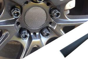 4x Llantas Aluminio Ejes Tapa Diseño Lámina Negro Brillante Muchas Vehículos