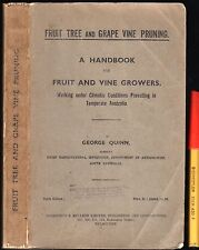 1936 FRUIT TREE & GRAPE VINE PRUNING in AUSTRALIA 278pg Farm Vineyard Orchardist