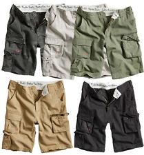 Excedentes SOLDADO Pantalones cortos para Hombre Militar Vintage Cargo