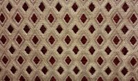 "Chenille Upholstery Claret Diamond Drapery fabric by the yard 57"" Wide"