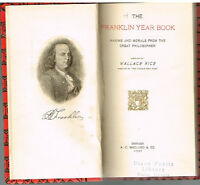 The Franklin Year Book by Wallace Rice 1907 1st Ed. Rare Antique Book! $