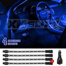 """4pc 8"""" Strips Car Under Body Interior Truck Bed Neon LED Lighting Light Kit Blue"""