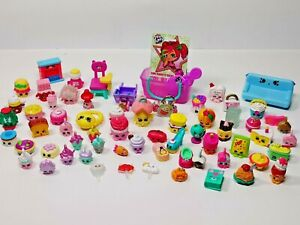Huge Lot of Shopkins Mini Figures Toys Lock VIP Pass Couch Basket Fireplace