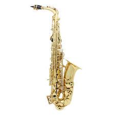 Messing  Alt Saxophon Eb Saxophone Saxofon mit Koffer Mundstück Set B8P3