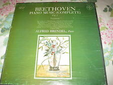 BEETHOVEN ~ PIANO MUSIC (COMPLETE) VOL. 1 ~ ALFRED BRENDEL #SVBX 5416 (3 LP)