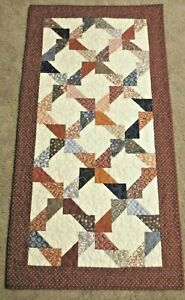 """Hand Made Quilted  Table Runner/Topper~ 20 1/2"""" x 40"""" ~ Multi color"""