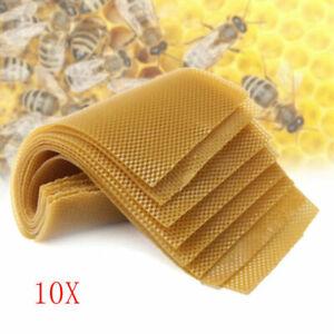 10x Beekeeping Honeycomb Foundation Wax Frame Honey Hive Equipment Tool Supplies