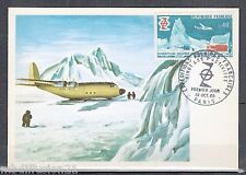 1968/FDC CARTE//20 ANS-EXPEDITIONS POLAIRES FRANCAISES//AIRPLAN/TIMBRE.YT.1574