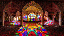 MOSQUE OF COLOURS ISLAM RELIGIOUS RELIGION WALL ART CANVAS PICTURE PRINT 20X30""