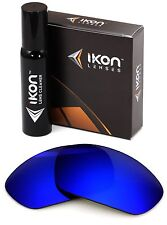 Polarized IKON Replacement Lens For Oakley Straight Jacket 2007 Deep Blue Mirror