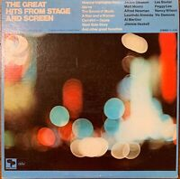 THE GREAT HITS FROM STAGE AND SCREEN 2 VINYL LP  CAPITOL VARIOUS ARTISTS EXC