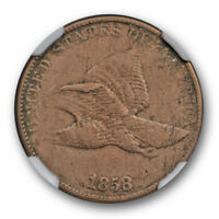 1858/7 Overdate Weak Flying Eagle Cent 1C NGC VF 35 Very Fine to XF