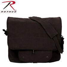 Vintage Black Paratrooper Military Shoulder Bag Messenger School Travel Rothco