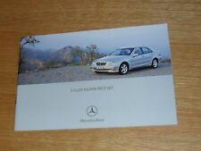 Mercedes C Class Price List 2004 C32 C180 C200 C240 C320 C220 C270 CDI Elegance