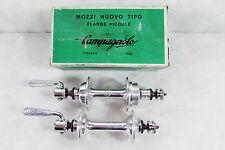 Vintage NOS 60's CAMPAGNOLO GRAN SPORT 36h HUB SET, 120 OLN, flat skewers, Rare.