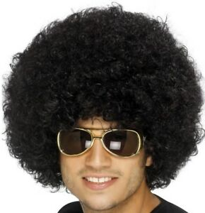 70s 1970s 80s 1980s Mens Ladies Funky Afro Disco Wig Fancy Dress by Smiffys