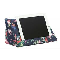 Coz-e-Reader Tablet Cushion Stand Holder Pillow Blue Navy Floral Support iPad
