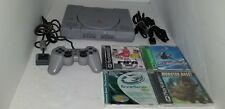 Original SONY Playstation 1 Console W/3 Game + shark + DualShock Controller T3