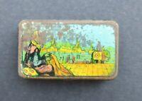 Boite publicitaire CACHOU LE COLONIAL La marchande de tapis old french tin