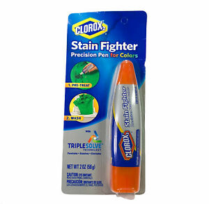 Clorox 2 Stain Fighter Precision Pen For Colors Pre-Treating- Dual Tips- NEW