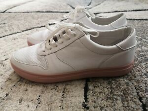 mens Reiss Clae Los Angeles white trainers, real leather, UK 7.5 EU 41.5, £110