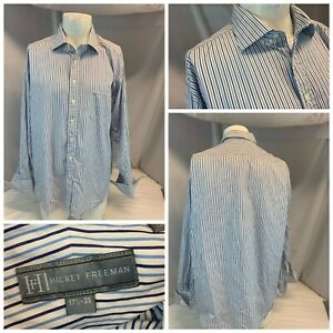 Hickey Freeman Collection Gray or Beige Button Down Shirt Size 16-35