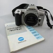 Minolta Dynax 404si SLR mit Gurt und Anleitung, ohne Batterien und body cap